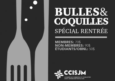 Bulles & Coquilles : Spécial Rentrée
