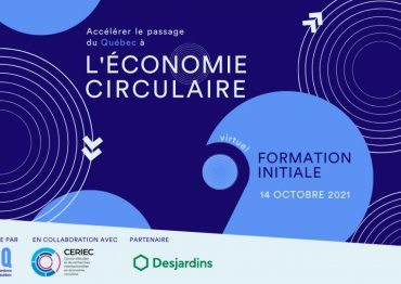 Formation initiale – Tournée sur l'économie circulaire (Cohorte 1)